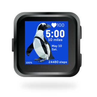 fitbit-versa-ionic-animal-clock-faces-dianas-animals-432x432-blue-penguin copy