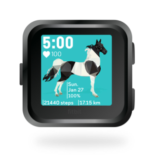 fitbit-versa-ionic-animal-clock-faces-dianas-animals-432x432-black-and-white-pinto