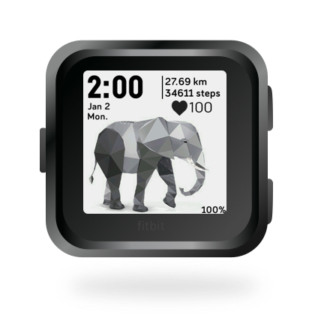 fitbit-versa-ionic-animal-clock-faces-dianas-animals-432x432-elephant