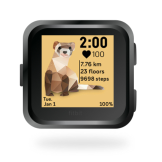 fitbit-versa-ionic-animal-clock-faces-dianas-animals-432x432-ferret