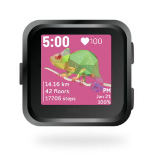 fitbit-versa-ionic-animal-clock-faces-dianas-animals-432x432-tropical-cham